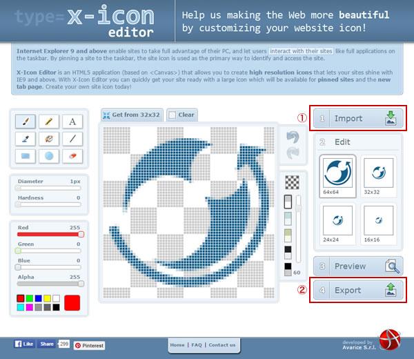 X-Icon Editor