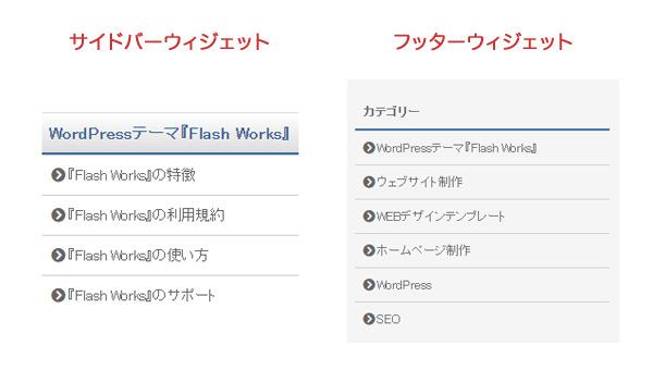 WordPressテーマ『Flash Works』のメニュー